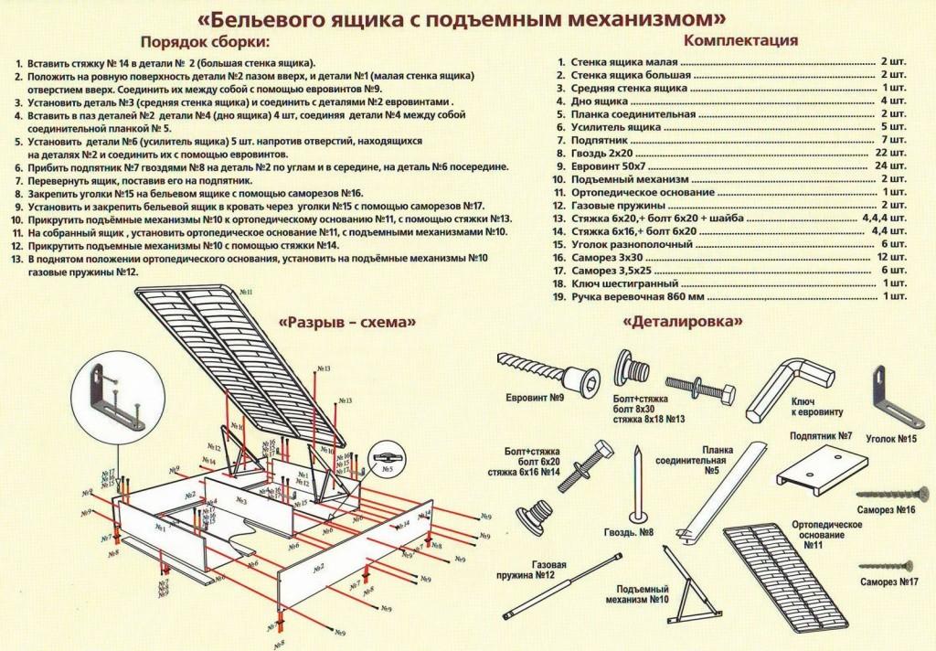 Пример схемы сборки подъемной